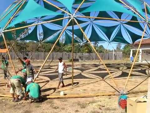 Geod sica 20 metros domebambu youtube - Suelo de bambu ...