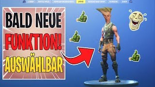 NEW FUNCTION IN FORTNITE! NO-SKIN SELECTABLE SOON!