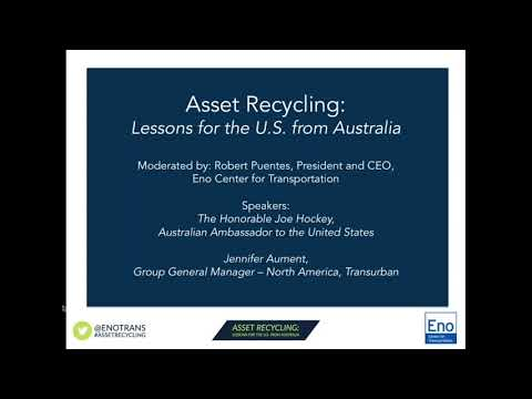 Asset Recycling: Lessons for the U S  from Australia