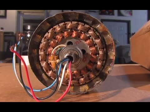 CEILING FAN GENERATOR ALTERNATOR DIY Real Free Energy - YouTube