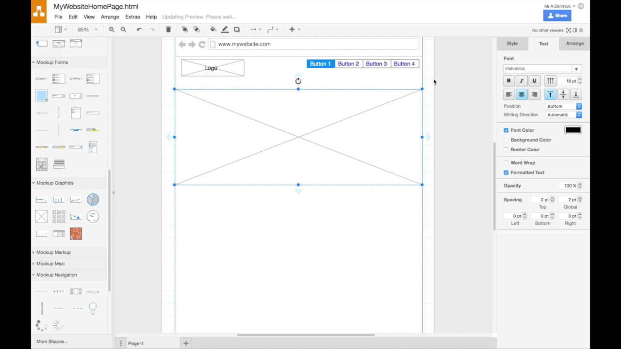 Creating a Website Wireframe in draw.io - YouTube