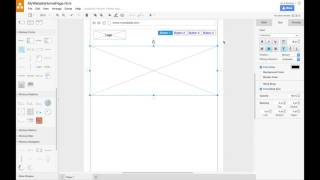 Creating a Website Wireḟrame in draw.io