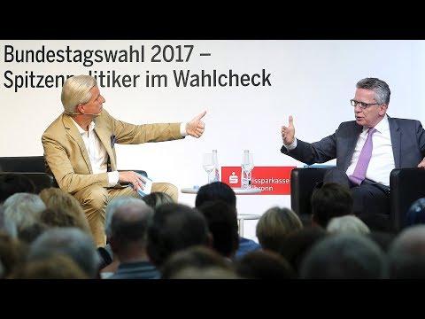 Stimme Wahlcheck mit Thomas de Maizière (CDU) zur Bundestagswahl 2017