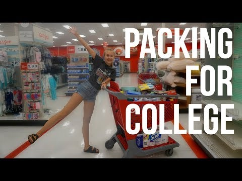 PACKING FOR COLLEGE + DORM SHOPPING!!