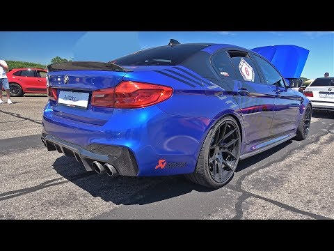 850HP BMW M5 F90 W/ Akrapovic Aulitzky Tuning - Start, LOUD Revs, Drag Racing!