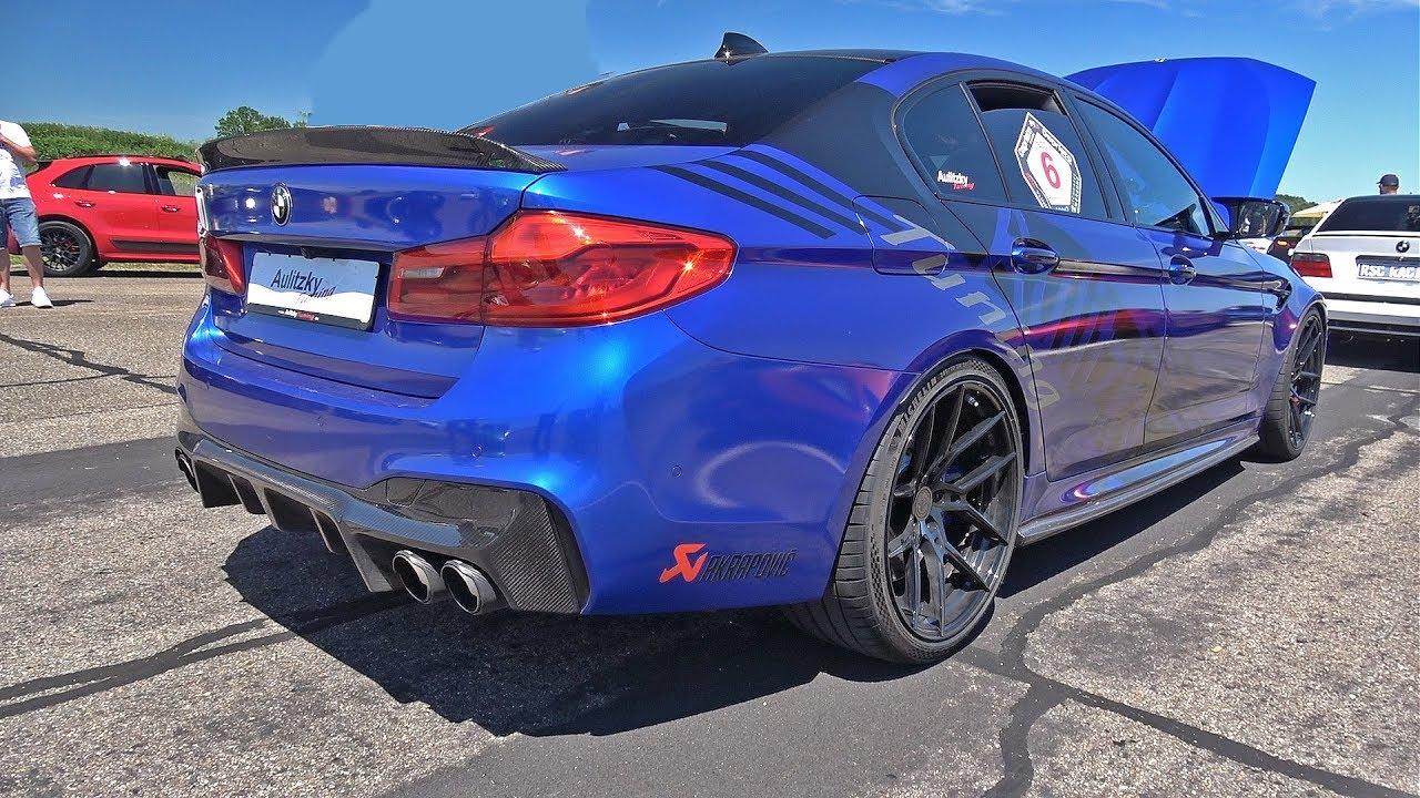 850HP BMW M5 F90 w/ Akrapovic Aulitzky Tuning - Start, LOUD Revs, Drag  Racing!