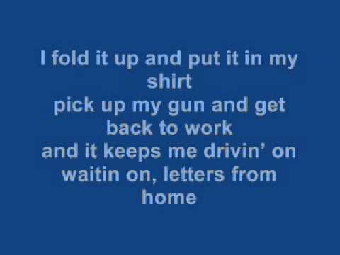 Letters From Home Lyrics - John Micheal Montgomery