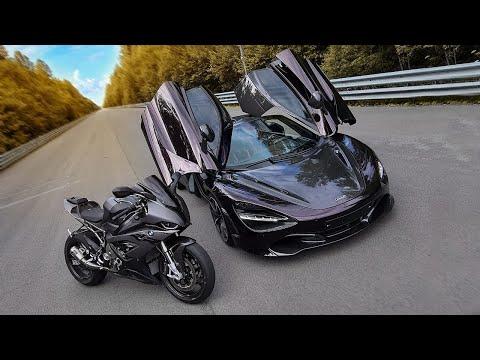 1000+ л.с. McLaren VS быстрейший BMW. Спорткар VS мотоцикл - Видео онлайн