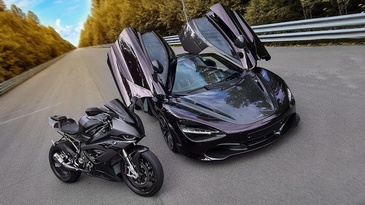 1000+ л.с. McLaren VS быстрейший BMW. Спорткар VS мотоцикл