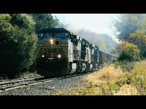 Chasing CSX U215 On The Buckingham Branch Between Doswell & Louisa, VA - 11/2/2019