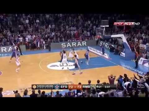 Anadolu Efes 75 - 72 Real Madrid Matt Janning'in Son Saniye Basketi