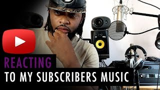 Reacting To My Subscribers Music | Home Studio Tour 2018 Coming Soon