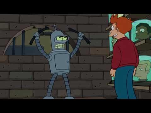 Futurama S01E01 - Bender bends bars