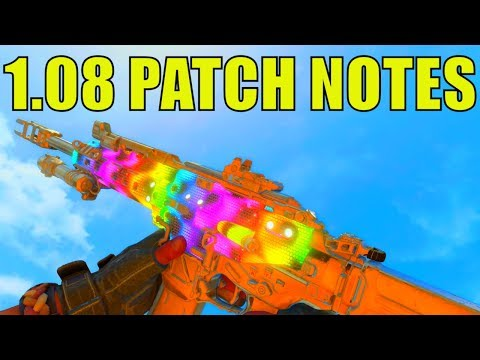 *NEW* COD BO4 1.08 UPDATE PATCH NOTES! - SPAWN FIXES, BLACKOUT UPDATES + MORE! (1.08 UPDATE COD BO4)