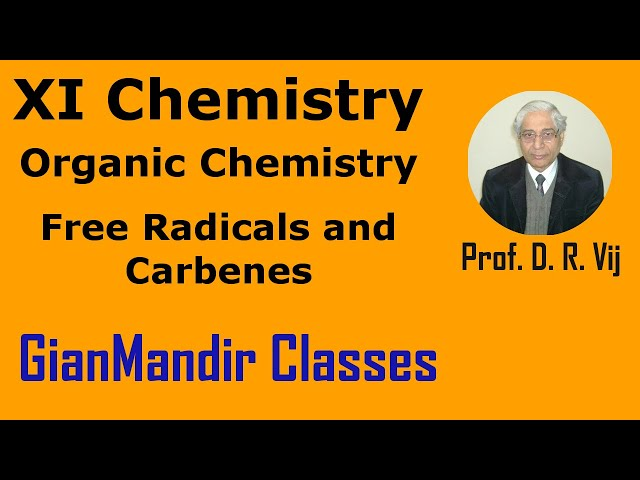 XI Chemistry | Organic Chemistry | Free Radicals and Carbenes by Ruchi Ma'am