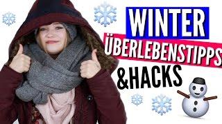 WINTER ÜBERLEBENSTIPPS! | Julia Beautx