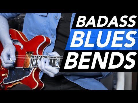 Freddie King style Blues Bends // Beginners Blues Lead Guitar Tutorial