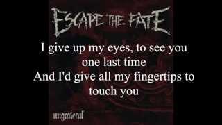 Escape The Fate -Picture Perfect + Lyrics