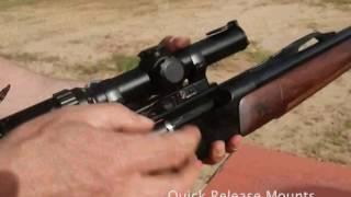 Contessa - Quick Release Scope Mounts in Action