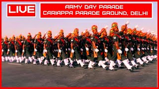 LIVE: Army Day Parade \u0026 Display |  Cariappa Parade Ground | Delhi