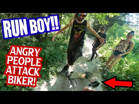 Angry Walkers Insult Kid With Electric Bike! Fight Involved!
