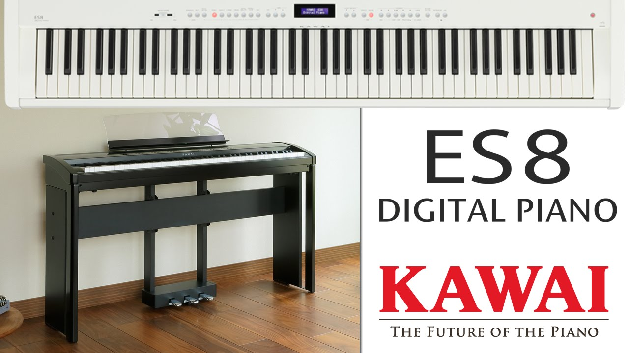 kawai es8 digital piano demo english youtube. Black Bedroom Furniture Sets. Home Design Ideas