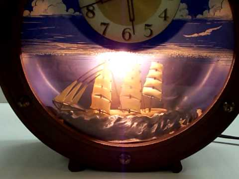 Clock With Moving Ship For Sale On Ebay