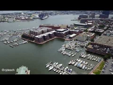 Fells Point Baltimore MD Drone Flyover