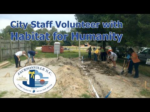 City Staff Volunteer to Help Build Habitat for Humanity Home