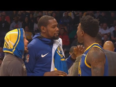 Stephen Curry Shuts Down Jordan Bell & Checks Him With Durant After Exchanging Words With Kerr!