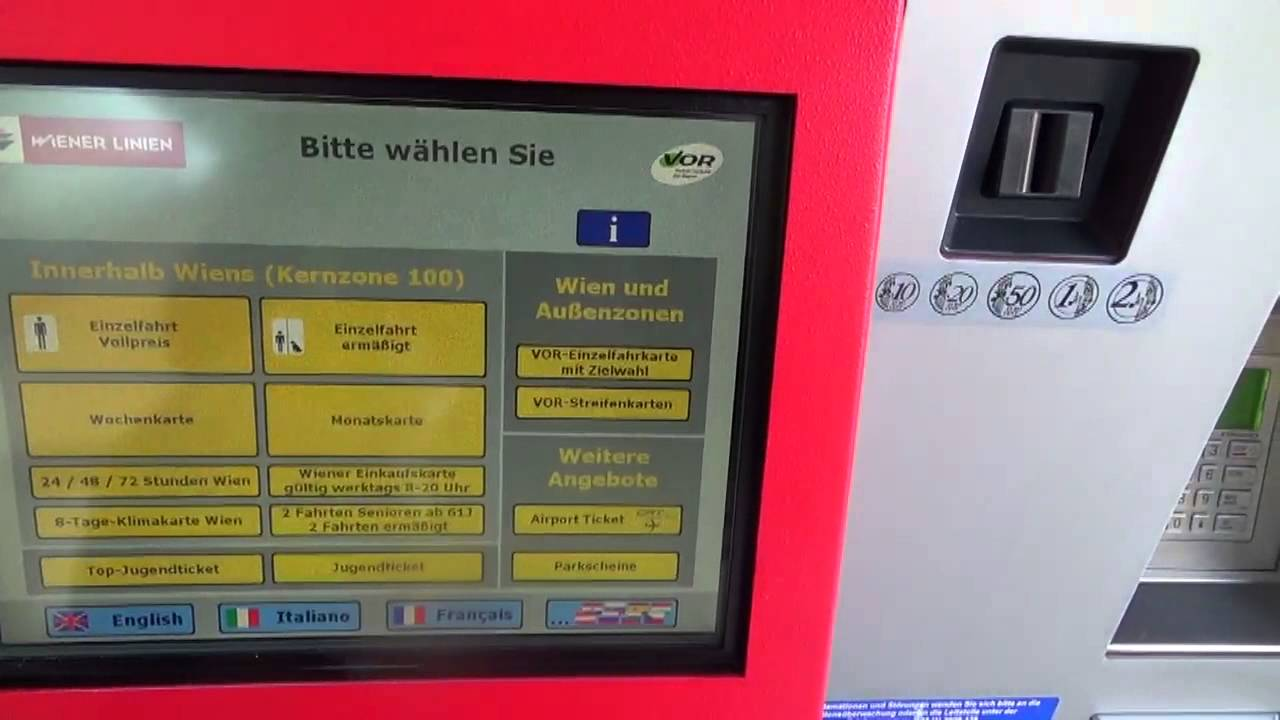 Ticket Machine Vienna Public Transport Youtube