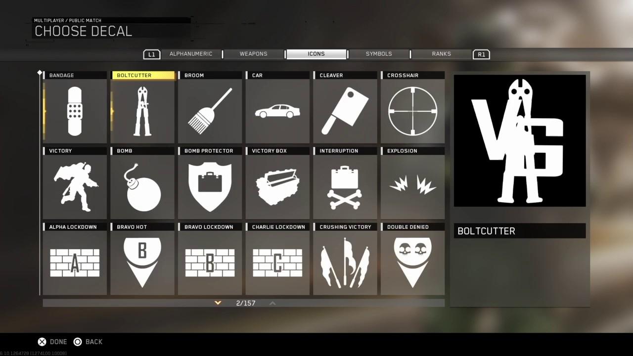 Vanoss (Old Logo) Emblem Making! (Infinite Warfare)