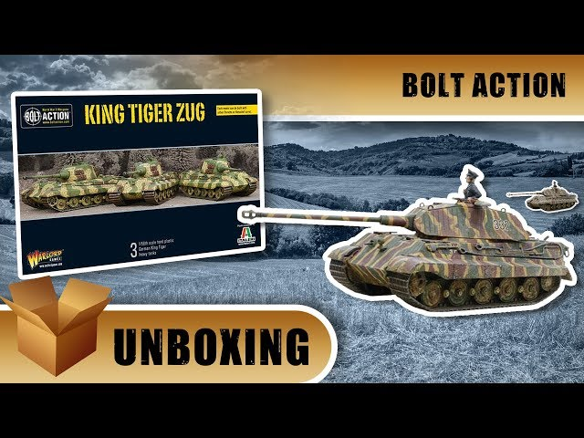Bolt Action Unboxing: King Tiger Zug