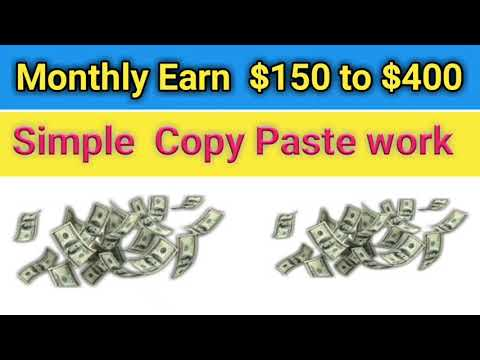 Earn 400$ Monthly Copy Paste Work Without Investment || Earn Money Online Without Investment || ASTE