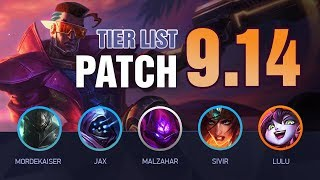 LoL Tier List Patch 9.14 by Mobalytics (HUGE Update)