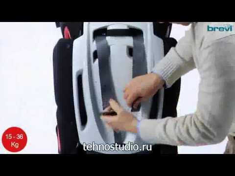 Автокресло Brevi Tao B.fix (9-36 кг) красно/черный