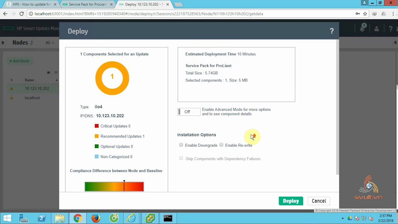 HPE - How to update firmware HPE DL360G8