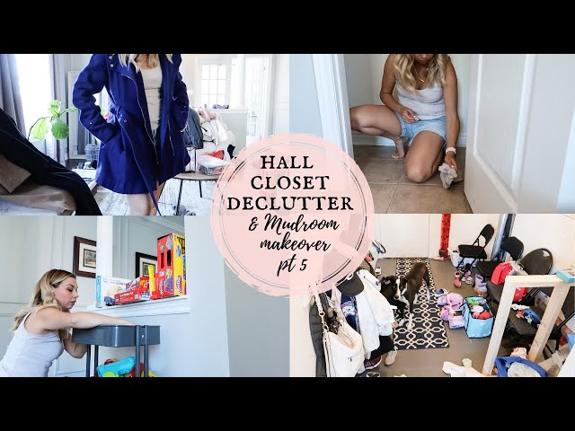 Closet Declutter, Try On & Mudroom Makeover Pt. 5 | Konmari Declutter