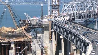 San Francisco-Oakland Bay Bridge construction time-lapse