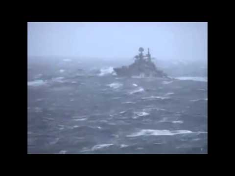 Russian Warship in Scottish Waters