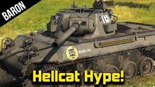 War Thunder Hellcat Hype!  M8A1 Gameplay!