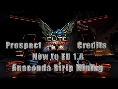 Anaconda Strip Mining - Hints, Tips with 10 a collector setup - ED 1.4