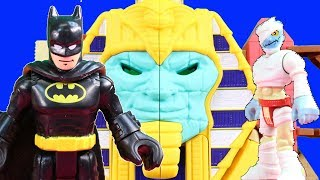Kids Toys Imaginext Batman Rescues Explorers & Paramedic From Serpent Strike Pyramid Playset