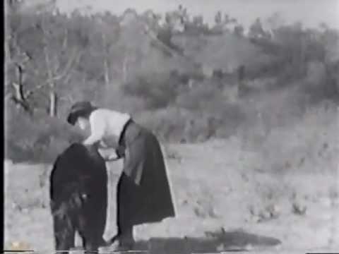 THE BRAVE HUNTER (1912) -- Biograph, Mack Sennett, Mabel Normand, Dell Henderson