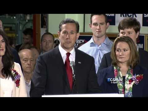 Rick Santorum Presidential Announcement Full Speech (C-SPAN)