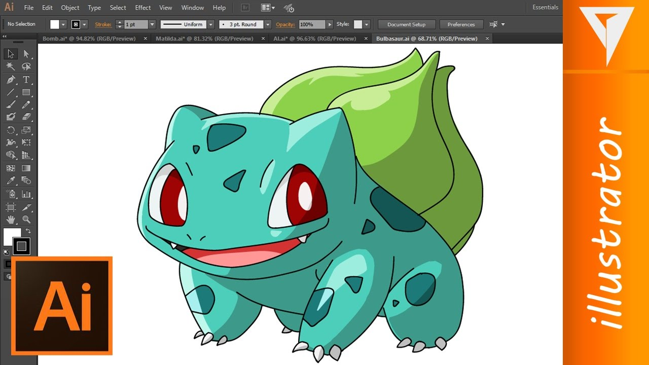 Pokemon - Fushigidane | Drawing illustrator (2D Animation) by James Malo
