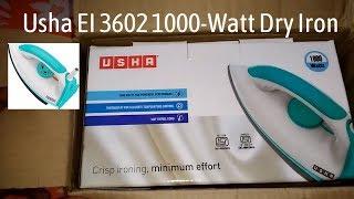 Unboxing of Usha EI 3602 1000-Watt Dry Iron !!!