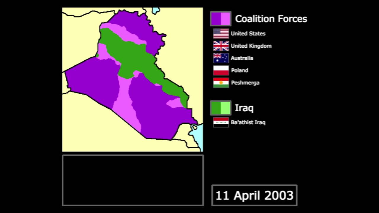 Wars The Invasion Of Iraq Every Day YouTube - Map showing us and iraq