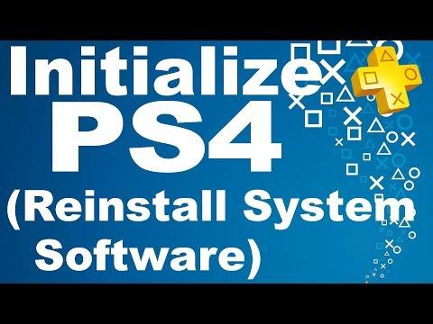 Как Переустановить прошивку на PS4   How To Initialize (Reinstall System Software)