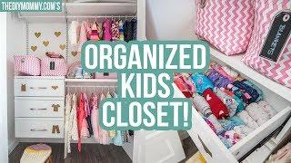 KIDS CLOSET ORGANIZATION IDEAS!   The DIY Mommy